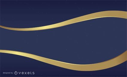 Blue and gold vector background