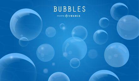Blaue Blasen