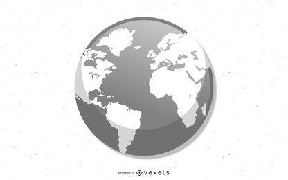 Globo de vetor - terra