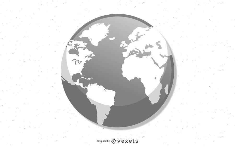 Vector globo - tierra