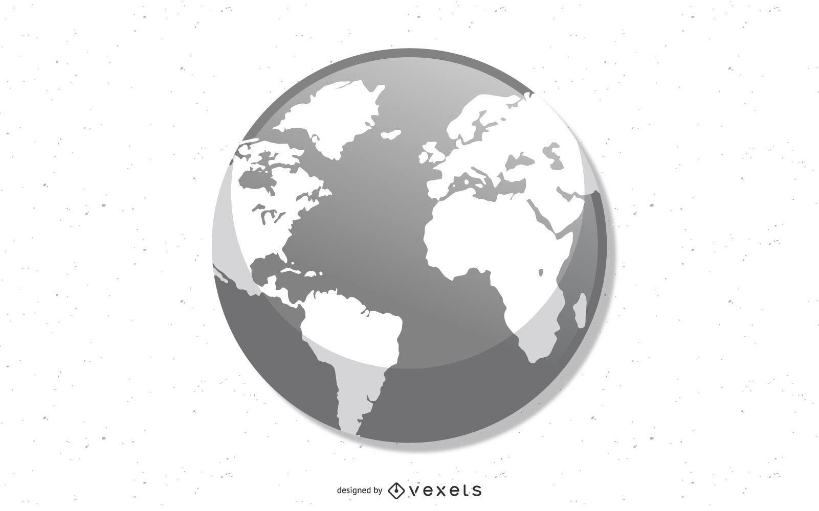 Vector globe - earth