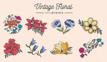 Decorações florais vintage