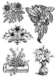 Decoraciones florales vintage
