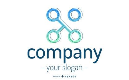 Abstract Company Shape Logo