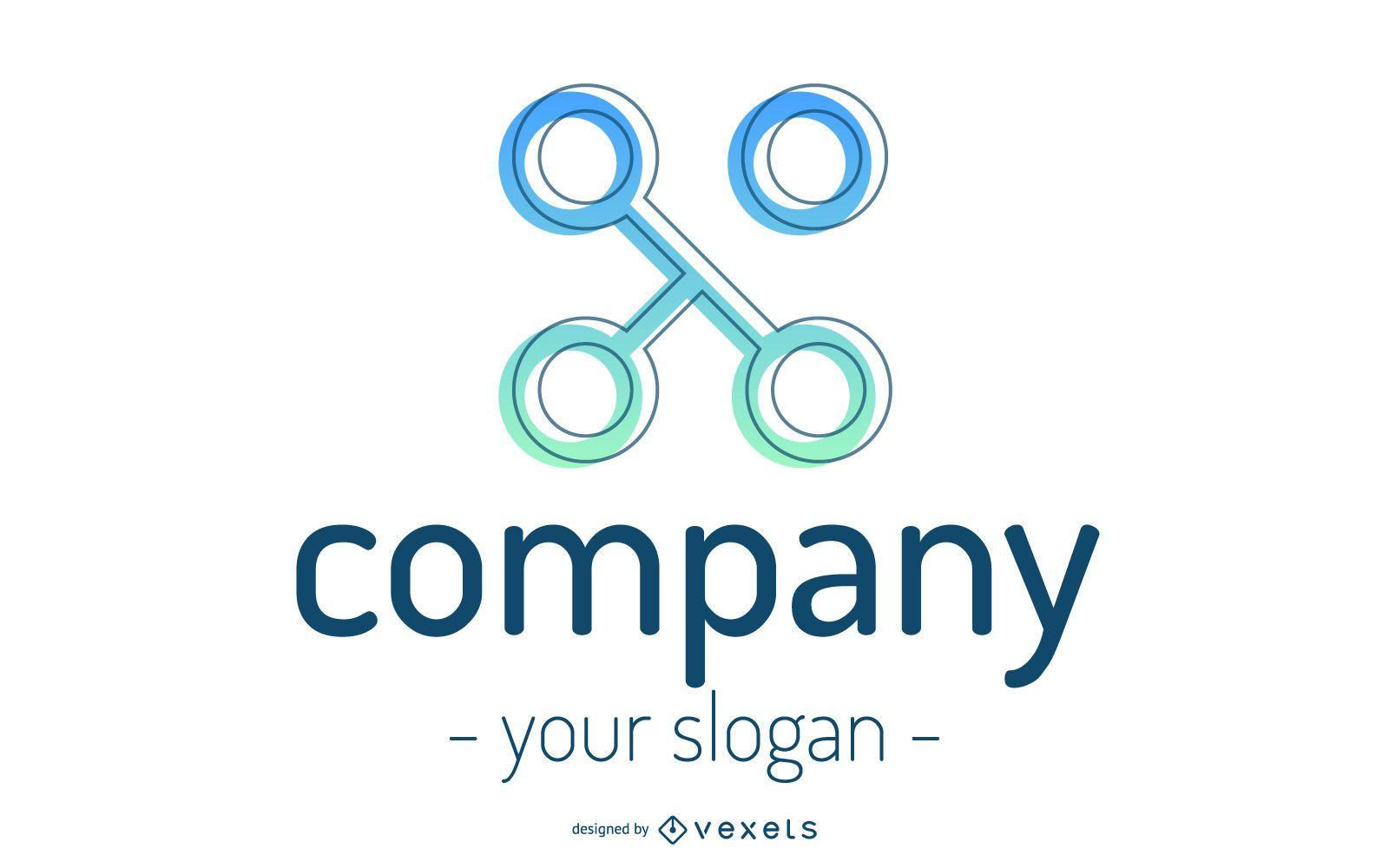 Abstract Company Shape Logo