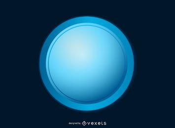 Botão azul brilhante