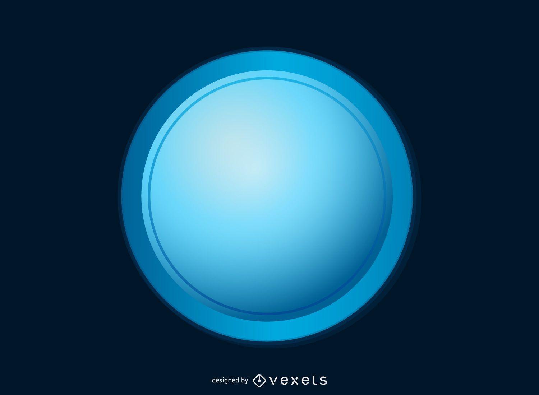 Botón azul brillante
