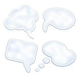 Nubes de discurso elegantes y limpias
