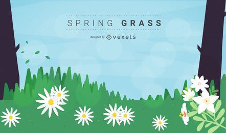 Free Vector Spring Grass or Meadow
