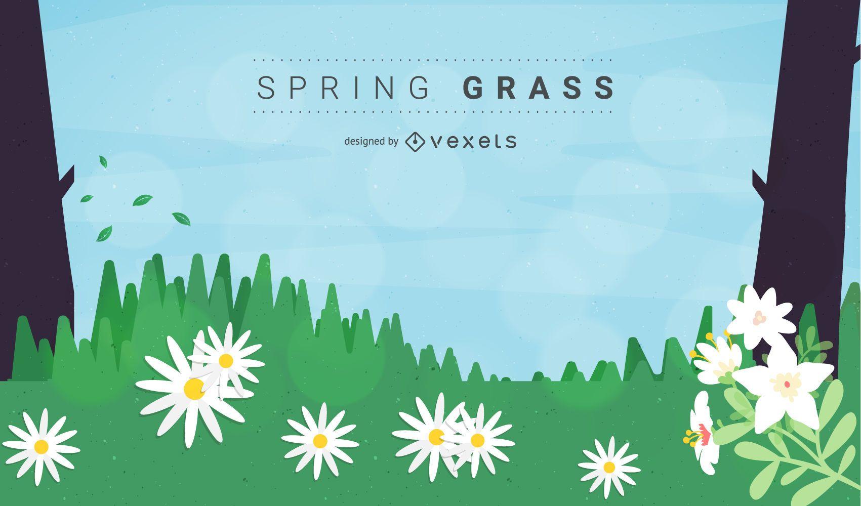 Vector libre primavera hierba o prado