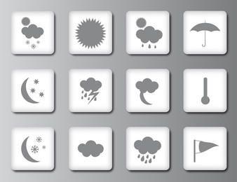 Ícones ou botões do tempo
