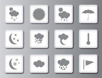 Weather icons or buttons