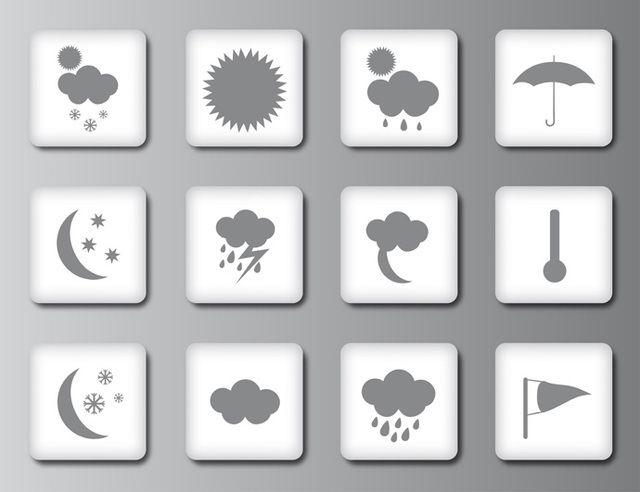 Iconos o botones meteorológicos