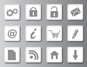 Reinigen Sie die Web 2.0-Symbole