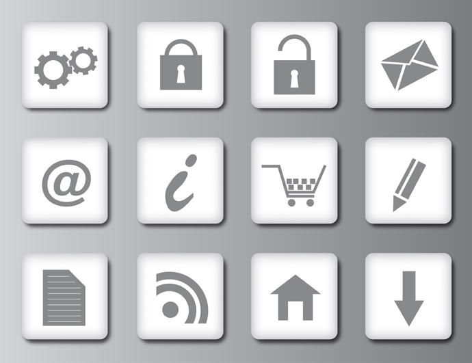 Clean web 20 icons vector download clean web 20 icons sciox Choice Image