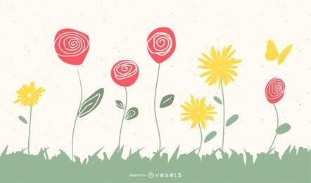 Vector gratis de garabatos de primavera