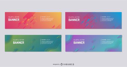 Colección colorida de la bandera del vector