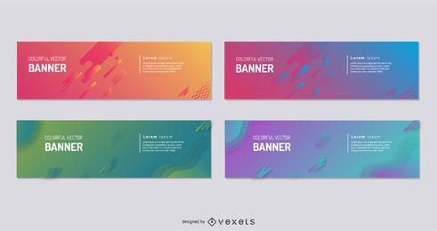 Colorful Vector Banner Collection