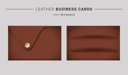 Vector Leather Business Cards