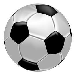 Bola de futebol realista vector
