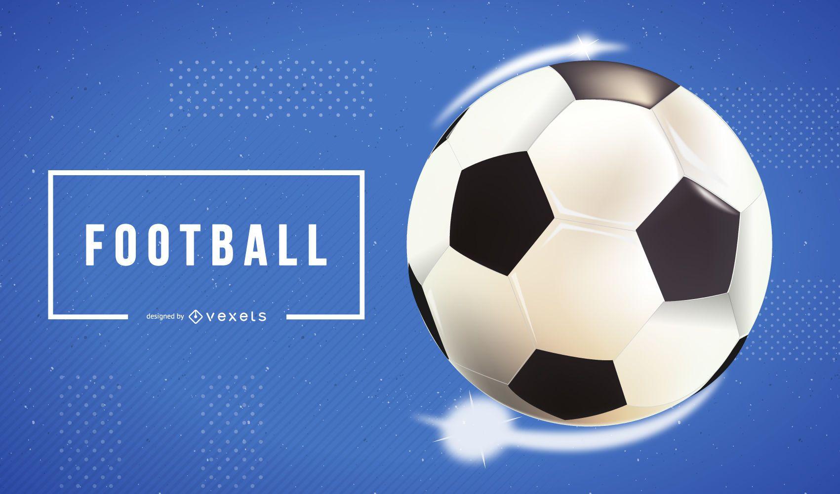 Bola de futebol de vetor realista