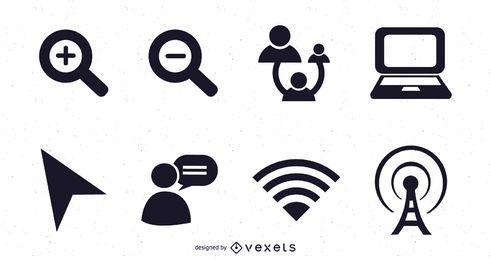 Ícones do vetor da Web 2.0