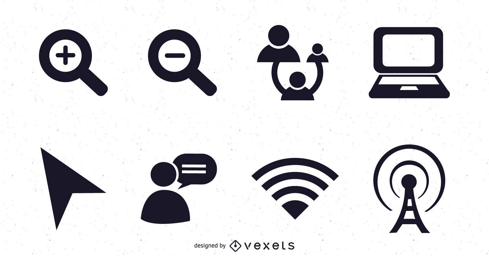 Iconos vectoriales web 2.0