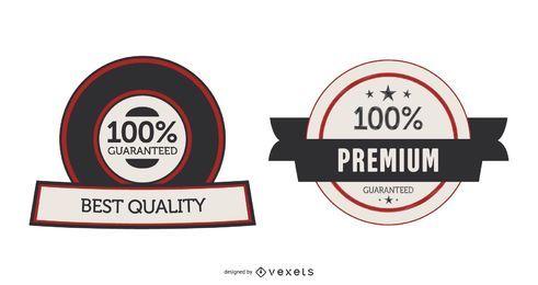 Etiquetas de garantia de vetor ou adesivos