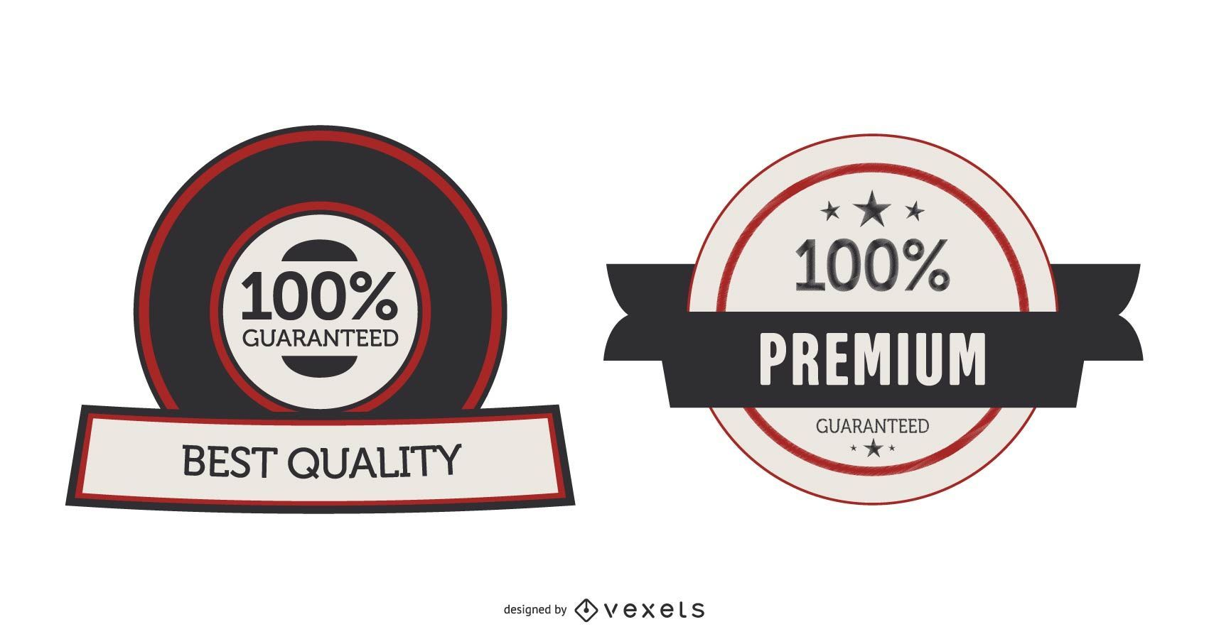Vektor-Garantie-Etiketten oder Aufkleber