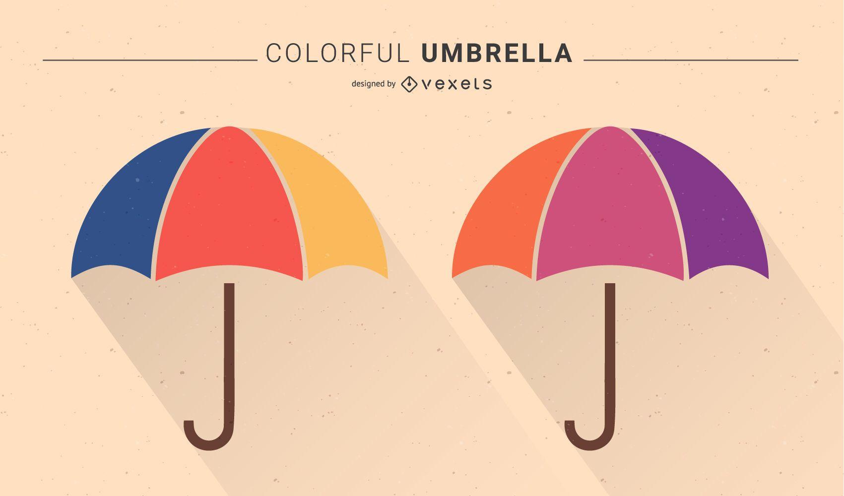 Colorful Umbrella - Free Vector Graphics