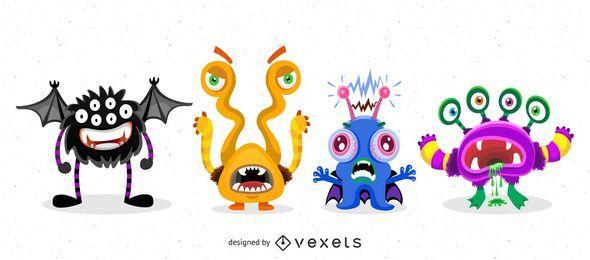 Pack de monstruos de Halloween