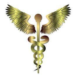 Signo de oro caduceo medico