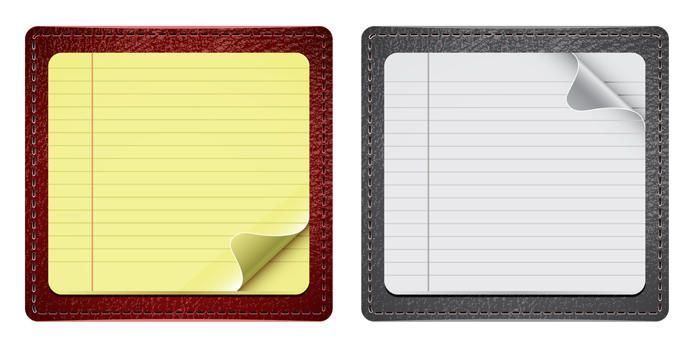 Notepaper With Leather