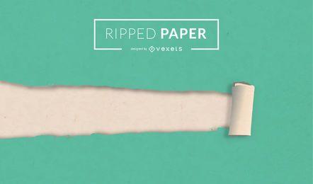 Zerrissenes Vektorpapier
