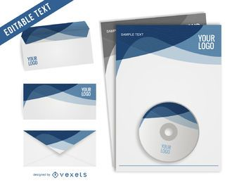 Vector Letterhead Template set