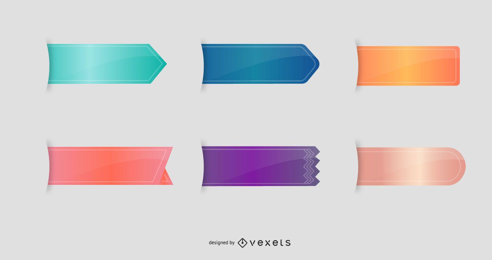 Vector Bookmarks - Ribbons