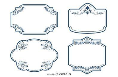 Conjunto de marcos decorativos ornamentados