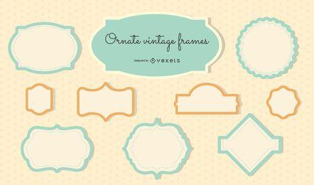 Verzierte Vintage-Rahmen