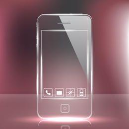 Vidro futurista Telefone