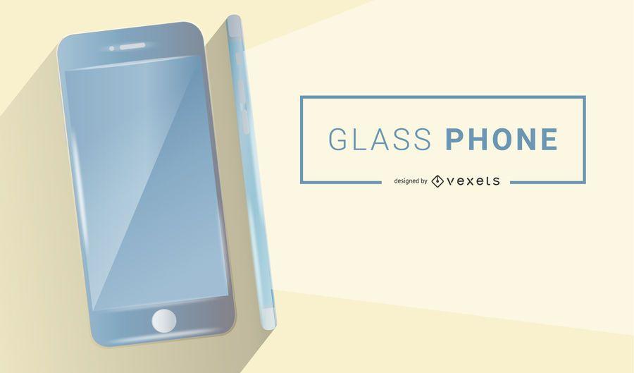 Telefono de cristal futurista