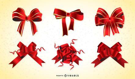 Cinta de regalo roja