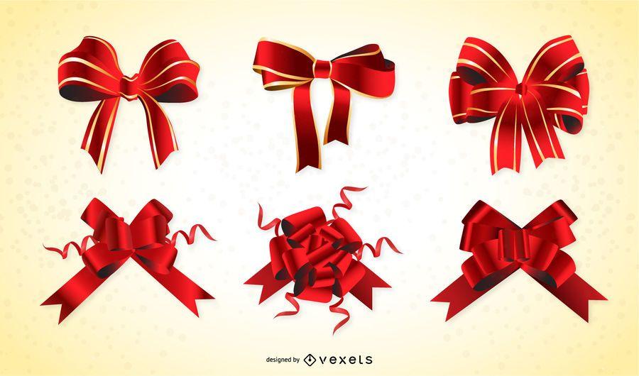 La cinta de regalo rojo descargar vector - Cinta para regalo ...