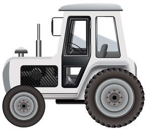 Tractor blanco