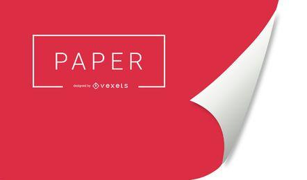 Fondo de papel de rizo rojo