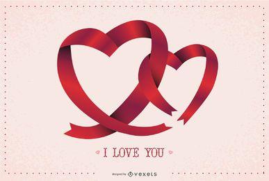 Zwei Ribbon-Herzen
