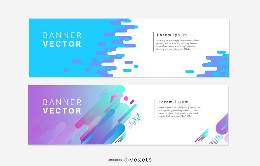Banners de conceptos artísticos