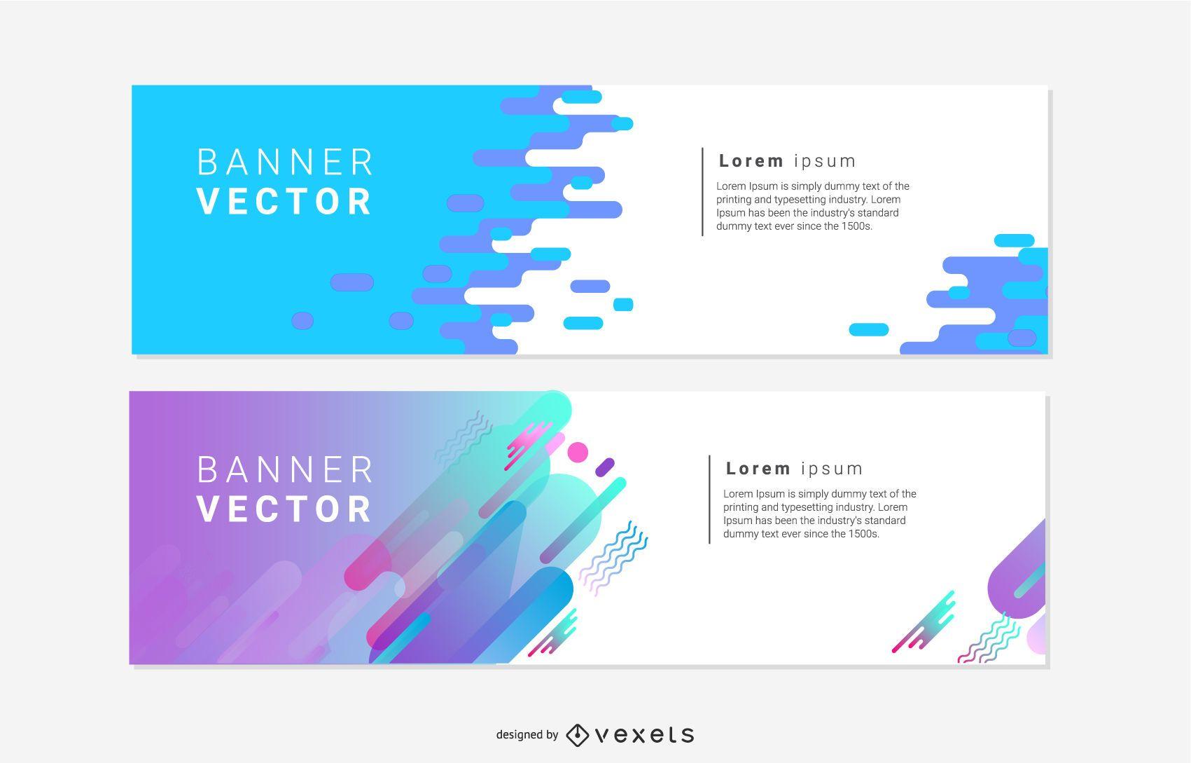 Banners de concepto artístico