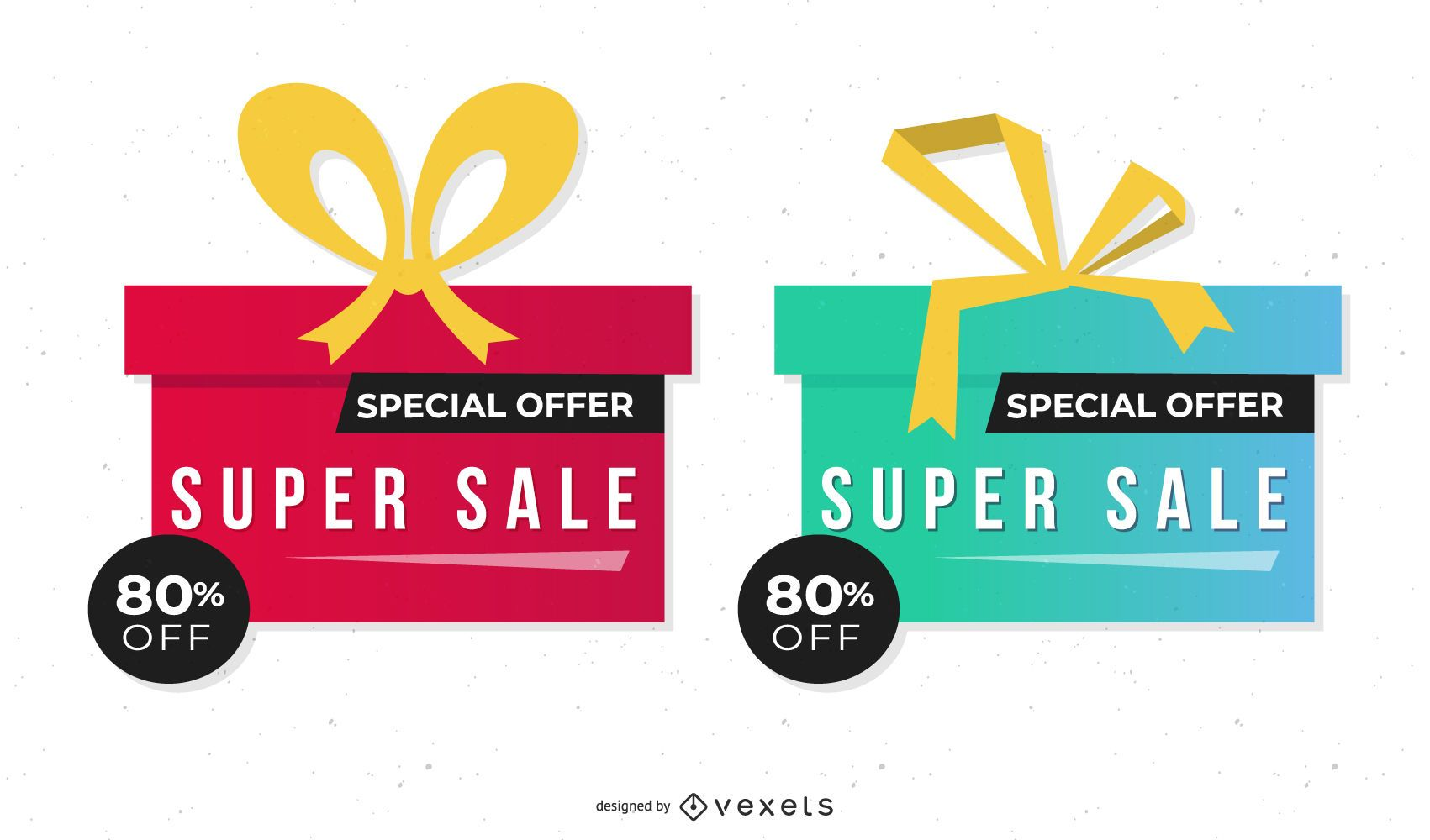 Two Vector Discount Boxes
