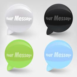 Glossy Vector Speech Bubbles