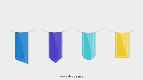 Colección de marcadores vectoriales